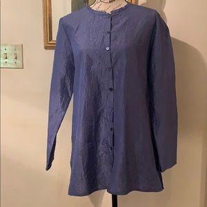Eileen Fisher 💯 Silk Textured Top Small